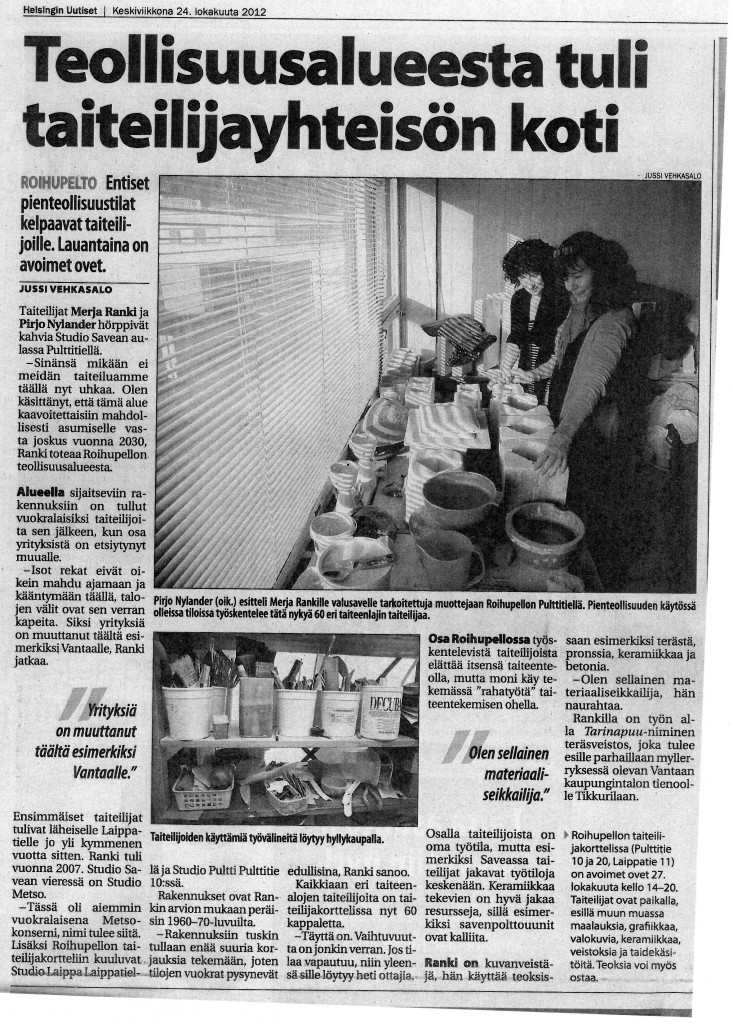 Helsingin uutiset 24.10.2012