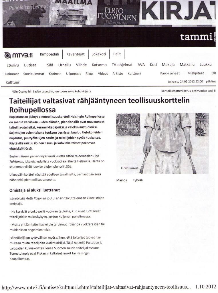 MTV3 uutiset 24.9.2012